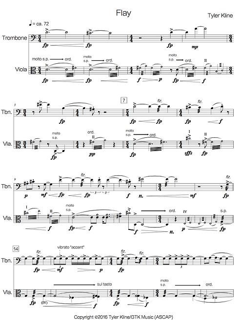 Flay (trombone + viola)