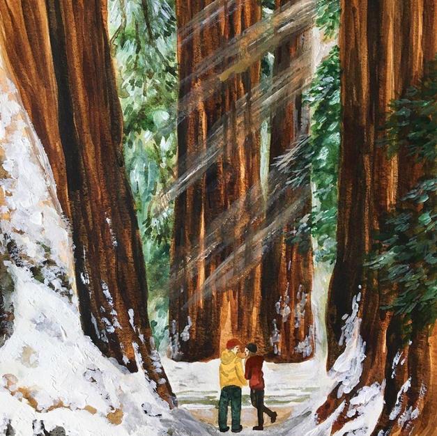 Winter in The Sequoias
