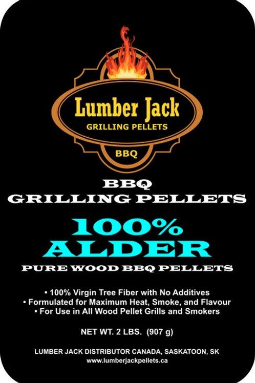 100% Alder Wood BBQ Pellets (20lbs)