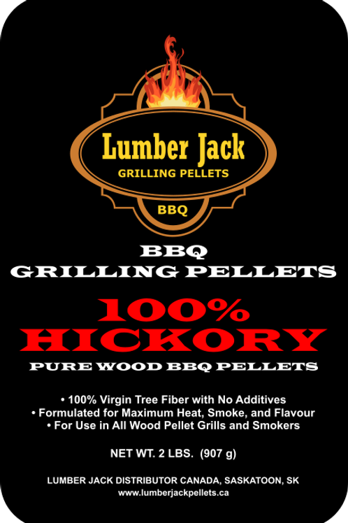 100% Hickory Wood BBQ Pellets (20lbs)