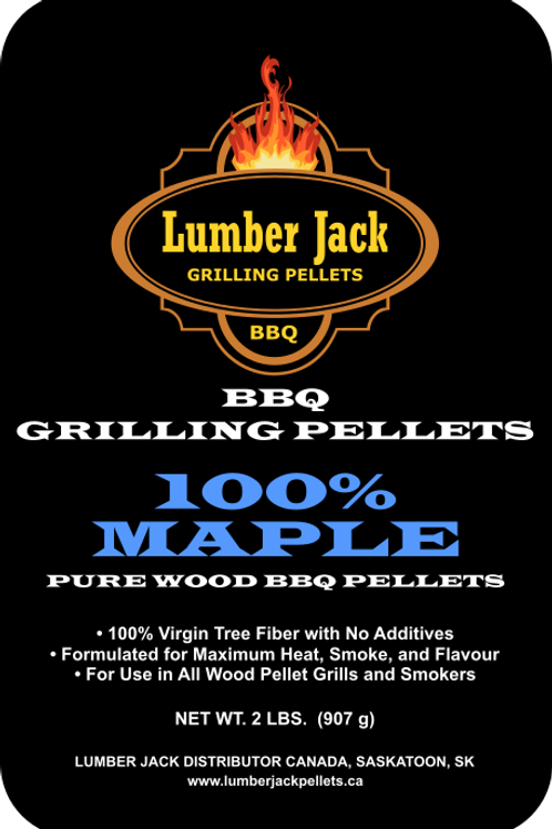 100% Maple Wood BBQ Pellets (20lbs)