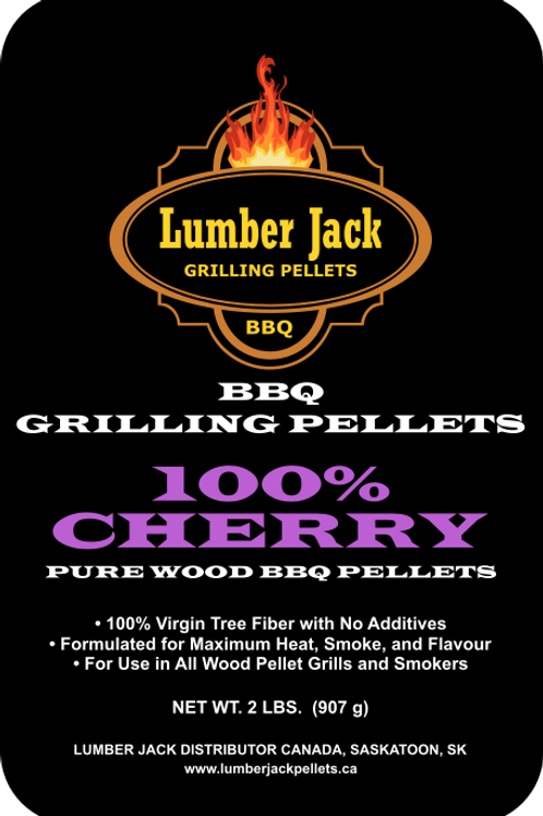 100% Cherry Wood BBQ Pellets (20lbs)