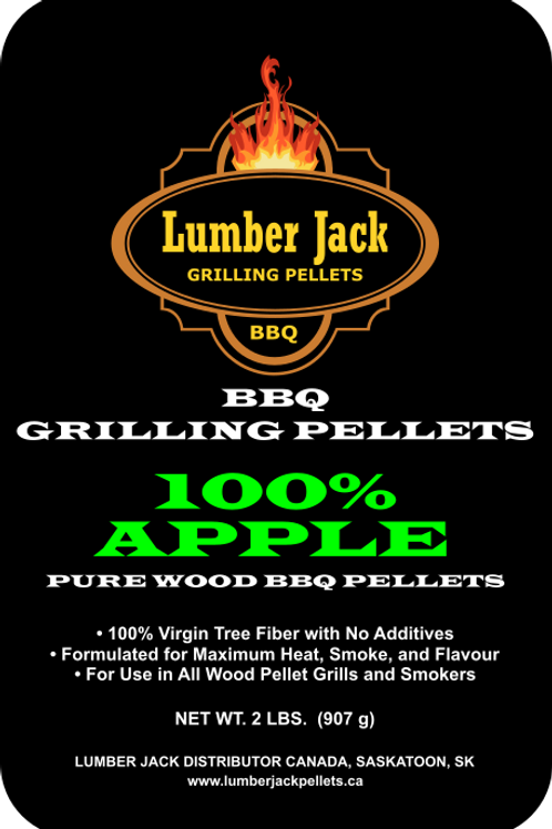 100% Apple Wood BBQ Pellets (20lbs)