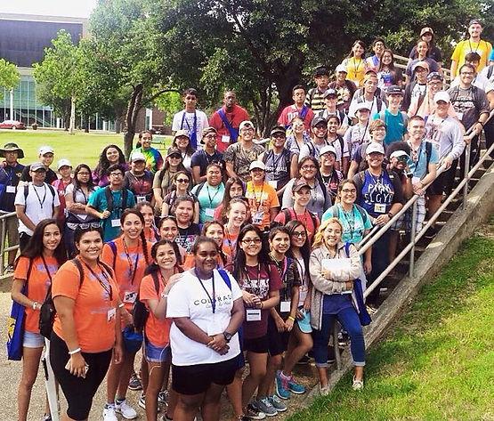 Several Students at the Summer 2017 Commerce Leadership Band Camp.