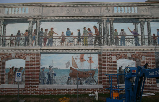The Promenade Mural after its completed restoration in July of 2015.