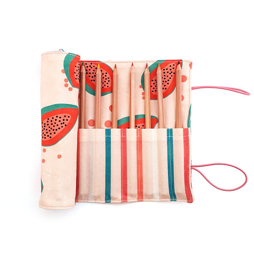 Pencil Case Long Papaya