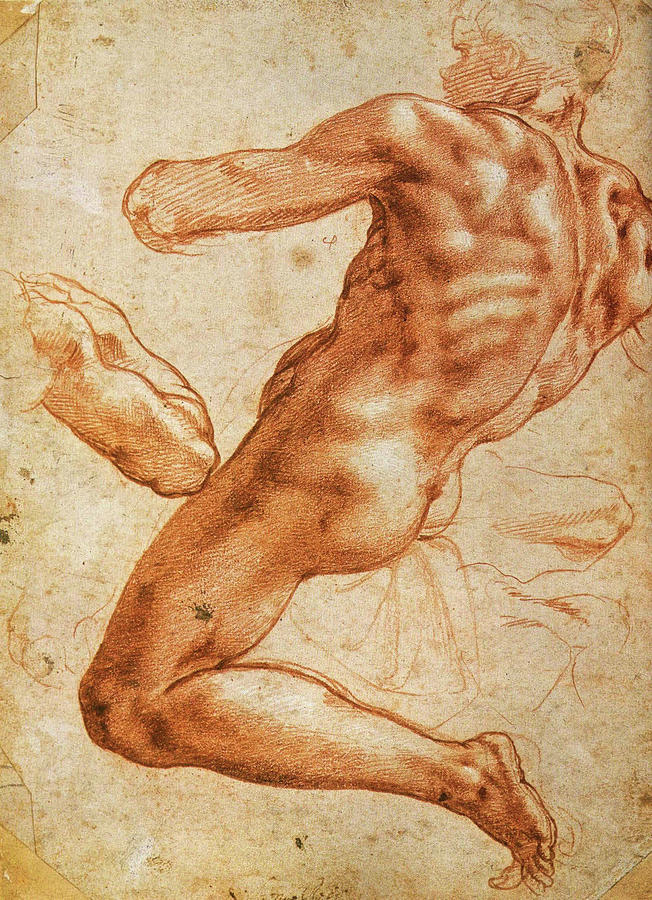 """""""Study for an Ignudo"""" (Michelangelo)"""