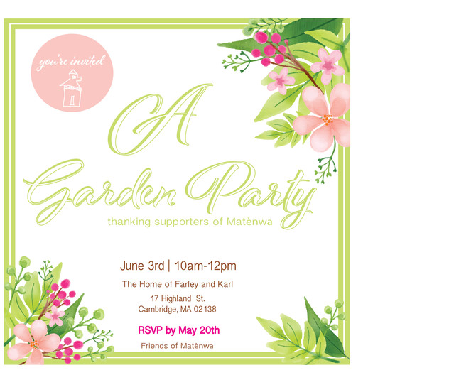 Come to a Garden Party!