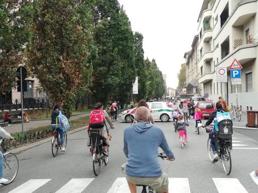 In bici a scuola al tempo del Covid