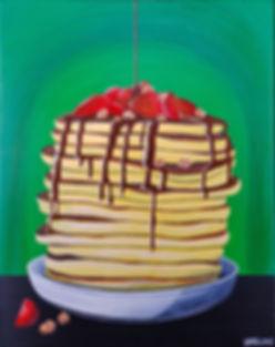 Pancakes with Strawberries & Granola WEB