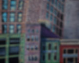 cityscape,New York, acrylic painter, Boston artist