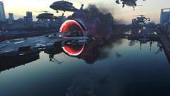 Puerto Madero Alienship VFX Experiment.m