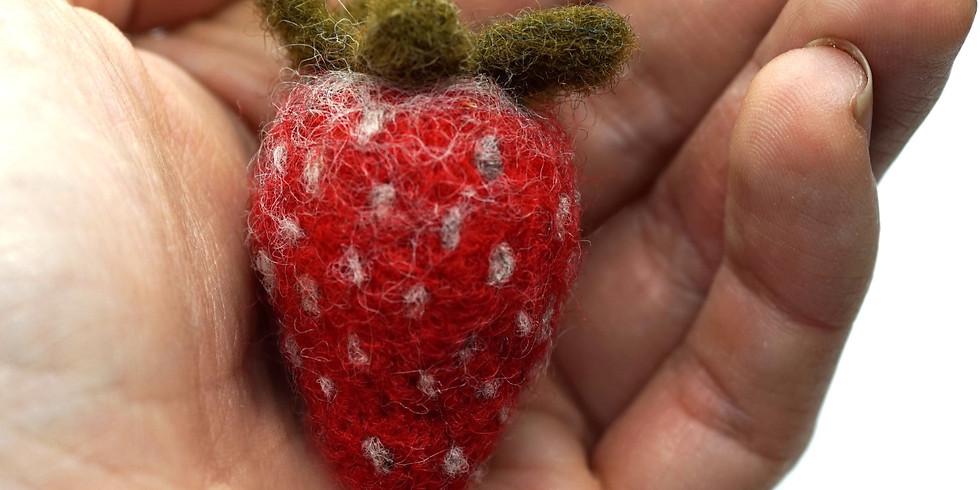 Needle Felt a Strawberry