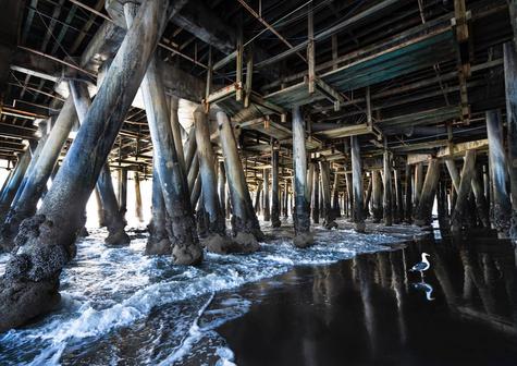 Under Santa Monica Pier - color