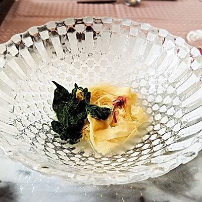 桜テーブルコーディネート, 桜テーブル, お花見テーブルコーディネート, 巻き湯葉あんかけ