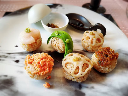 桜テーブルコーディネート, オーガニック, 玄米, 玄米手まり寿司