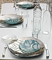 グラススタジオ, glass studio, glassstudio, テーブルコーデ, テーブルセッティング, 盛り付け, 食器 シルバー, シルバー, 銀, ガラス食器, 食器 青, 食器 ブルー, 青, ブルー