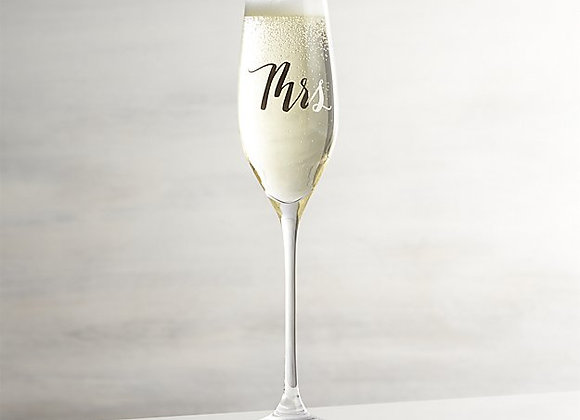 【お取り寄せ品】Crate&Barrel / Mrs. Champagne Flutes