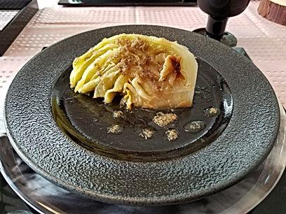 桜テーブルコーディネート, オーガニック, やききゃべt焼きキャベツ