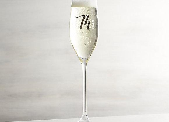 【お取り寄せ品】Crate&Barrel / Mr. Champagne Flutes
