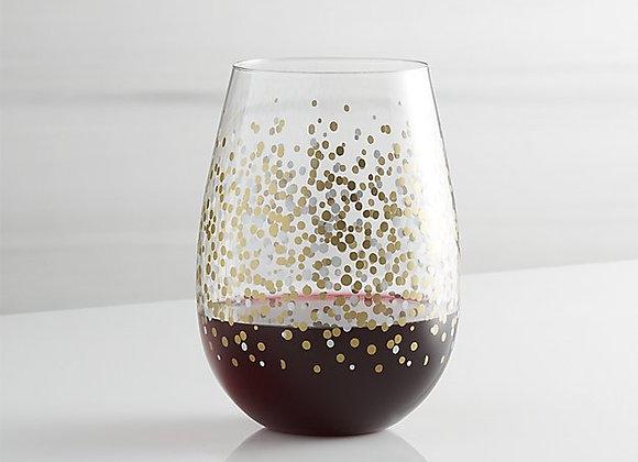 【お取り寄せ品】Crate&Barrel / Metallic Dots Stemless Wine