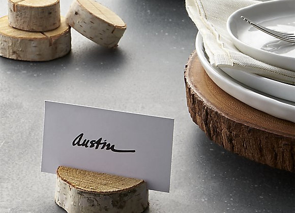 Crate and Barrel / Stump Wood Place Card Holder