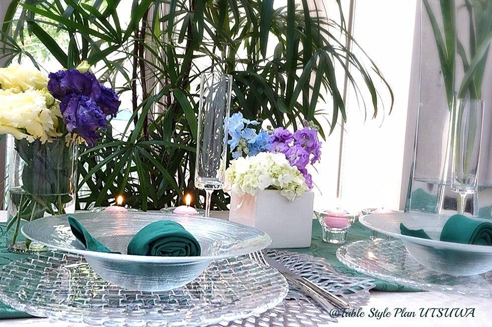 梅雨を楽しむテーブルコーディネート, テーブルウェア, テーブルコーディネート