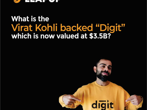 """What is the Virat Kohli-backed """"Digit"""" which is now valued at $3.5Billion?"""