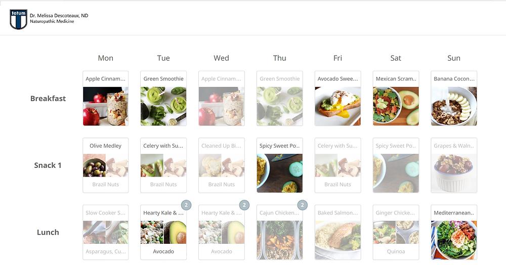 Comprehensive Naturopathic Meal Plan