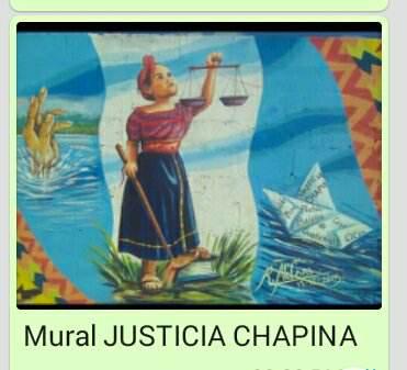 Mural Justicia Chapina