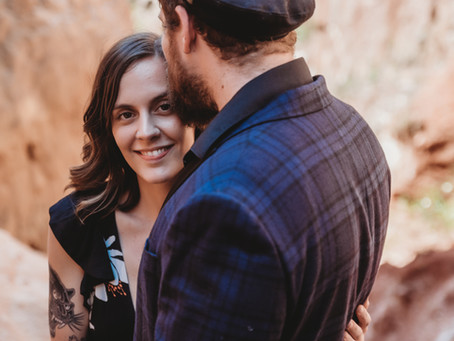 Afternoon Engagement Session at Providence Canyon in Georgia