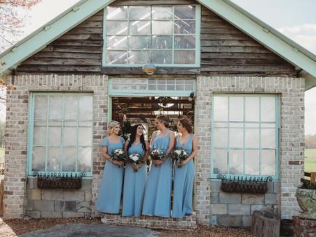 Beautiful Bride & Bridesmaids at West Milford Farms Spring Wedding