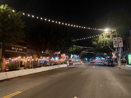 Lights Go Up Over Vermont Ave.
