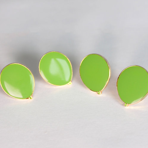 PACK OF FOUR Green Balloon Pin Badges (Muscular Dystrophy Awareness)