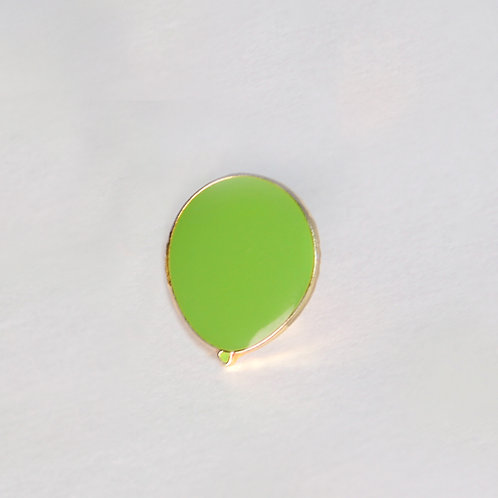 Green Balloon Pin Badge (Muscular Dystrophy Awareness)