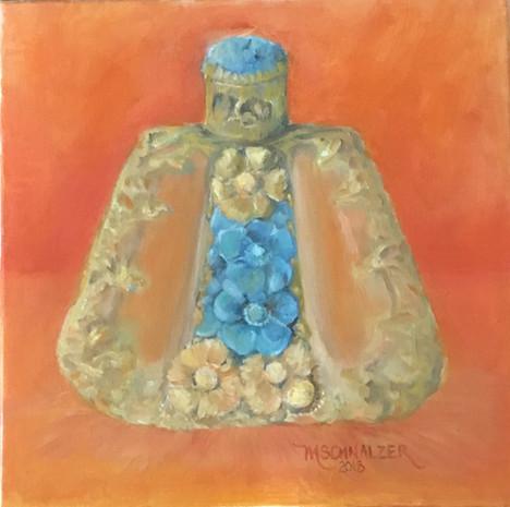Perfume bottle- turquoise