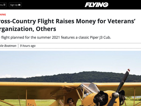 """Young Pilots USA """"Coast to Coast Cub"""" Flight Featured in Flying Magazine"""