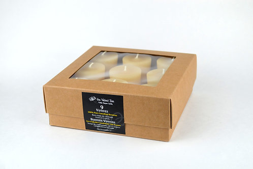 100% Pure Beeswax Votive (Box of 9)