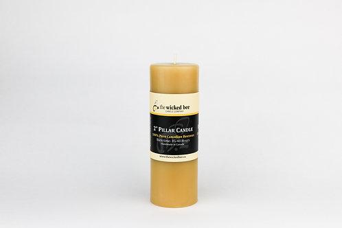 "100% Pure Beeswax Pillar (2""x6"")"