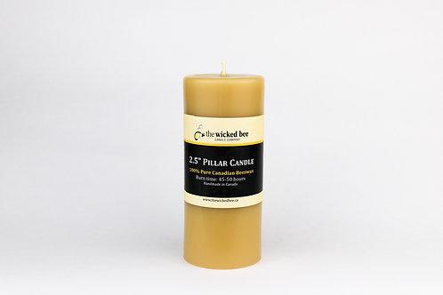 "100% Pure Beeswax Pillar (2.5""x6"")"
