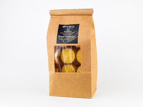 100% Pure Beeswax Tealights (Bag of 25)
