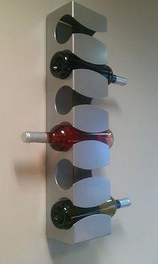 Cava para 6 Botellas de Vino de Acero Inoxidable