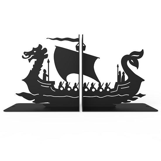 Sujeta Libros Barco Vikingo
