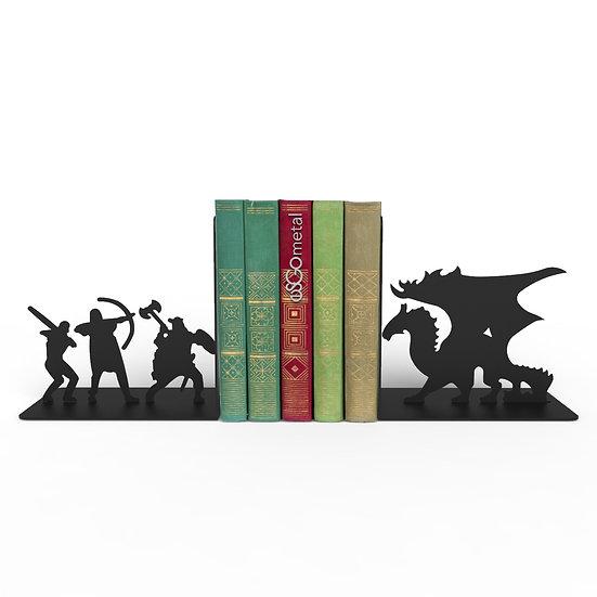 Sujeta Libros Caballeros y Dragón