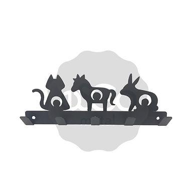Perchero / Colgador Gato, Poni y Conejo