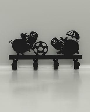 Perchero / Colgador Pigs Jugando