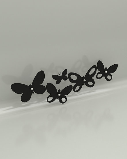 Perchero Mariposas  (2) PEM252