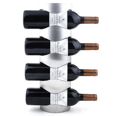 Cava para 4 Botellas de Vino en Acero Inox.