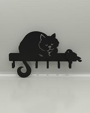 Porta Llaves Gato & Pájaro