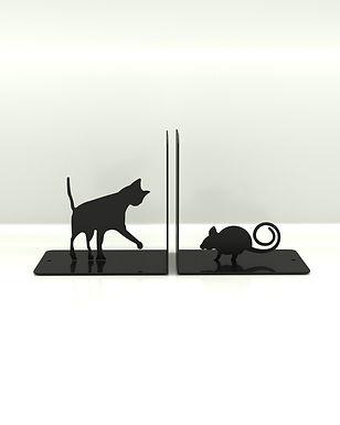 Sujeta Libros Gato y Ratón